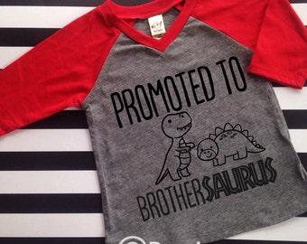 Big Brother Dinosaur Big Brother Shirt Hipster Big Brother Promoted to Big Brother Shirt Big Bro Shirt Brothersaurus Hipster Raglan