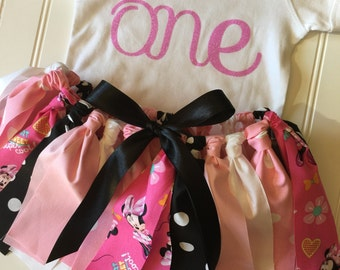Minnie Mouse Birthday - Minnie Mouse Costume - First Birthday Outfit - Baby Birthday Outfit - Minnie Tutu - Birthday Tutu - Minnie Mouse