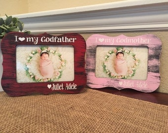 gifts for godmother godfather gift frame for godmother godfather gift from godchild for godparents baptism baby announcement