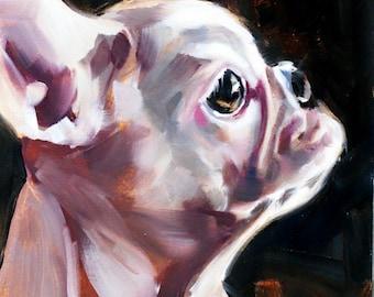 french bulldog art oil painting original