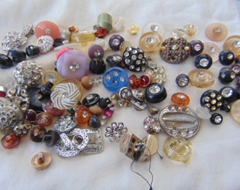 Jewelry Making or Repair Lot Rhinestone Buttons
