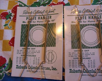 vintage wire plate hangers