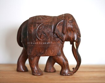 Elephant Elephant from India handcarved wooden elephant
