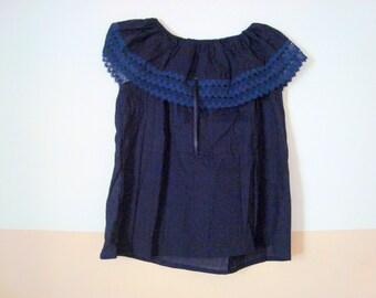 blue blouse mexican blouse
