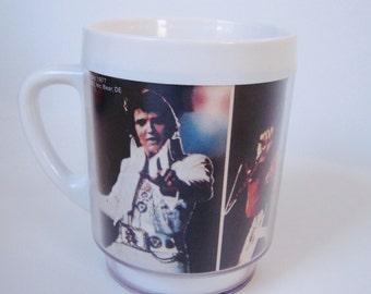 1977 Elvis plastic Dawn mug