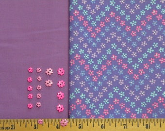 Coordinating fabrics Lavender and floral print cotton