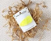 Neon Yellow Glitter Snap Clip, Hair Bows for girls, giddyupandgrow