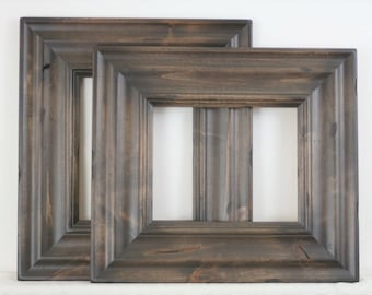 16x24 Picture Frame / Madera Style in 3 stained finishes / WITH CARVE