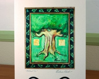 Steadfast Tree Matted Print 11 x 14