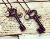 free in Christ vintage key necklace (black oval large) #BOL2
