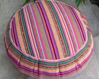 Exotic Santiago Hesina Woven Fabric Buckwheat Hull Meditation/Yoga Cushion
