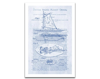 Fishing Boat Patent Art Giclee on archival matte paper