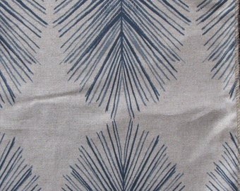 TULUM INDIGO  ikat designer, drapery/bedding/upholstery fabric
