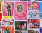Music To My Eyes 50 Vintage Postage Stamps Musical Musician Singer Guitar Piano Horns Sitar Sound Listen Orchestra Scrapbooking Classical