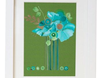 Modern Floral Watercolor Print