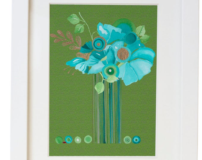 Modern Floral Watercolor Print