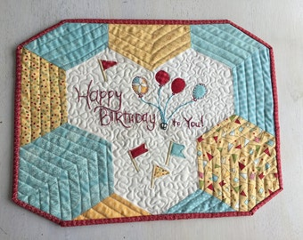 Happy Birthday Snack Mat Placemat Table Topper - FREE shipping