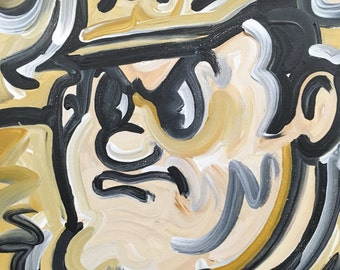 12x12 Officially Licensed Purdue University Painting Justin Patten Art College Football Basketball Purdue Pete Train