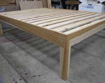 Hickory queen bed frame