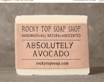 Absolutely Avocado Soap - Facial Soap, All Natural Soap, Unscented Soap, Cold Process Soap