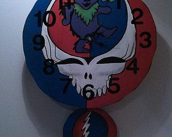 Grateful Dead Pendulum Wall Clock