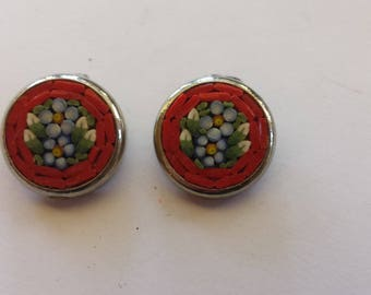 1950's Mosaic Earrings