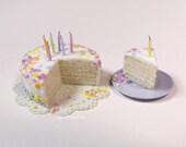 1:12 birthday cake miniature food