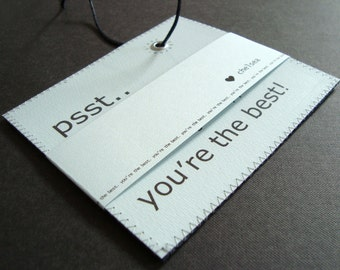 Unique custom Valentine's Gift - You're The Best bespoke Design luggage tag with free Valentine's wrap