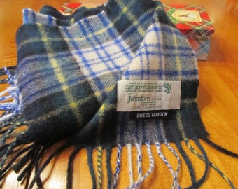 Dress Gordon tartan lambswool scarf made in Scotland