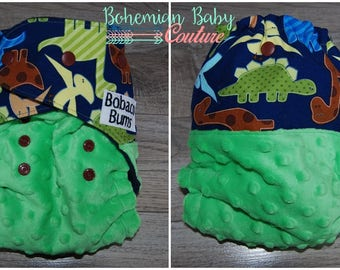 OS One Size Dinosaur Toss AI2 All in Two Cloth Diaper