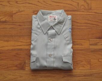 vintage Round up embroidered western shirt