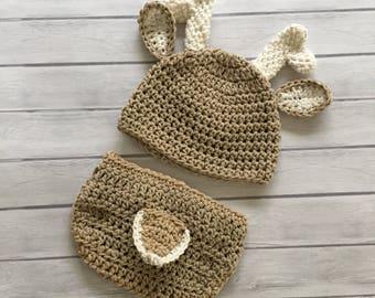 Deer hat, baby deer hat, crochet deer hat, newborn deer hat,deer, newborn deer outfit, baby deer outfit, crochet baby hat, baby deer