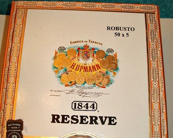 Cigar Box - empty box for crafting - 1844 Reserve - Robusto - Empty Cigar Box