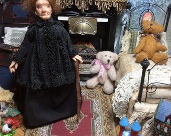 Miniature Doll, Nanny Doll, Witch, Doll House Doll, Miniature, Nanny McPhee