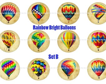 Balloon Magnets,Balloon Pins,Hot Air Balloons,Party Favors,Wedding Favors,Magnet Gift Sets,Pin Gift Sets,Fridge Magnets, Refrigerator Magnet