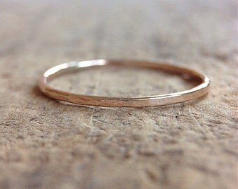 1 Gold Stacking Rings, 14k Gold Filled Rings, One ring, Stackable Rings, Skinny Rings, Ring Stack, Boho Ring, Bohemian Jewelry, Christmas