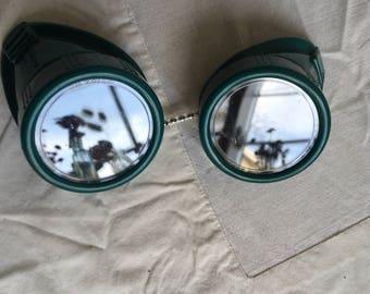 Vintage welding glasses  safety glasses  steampunk supply