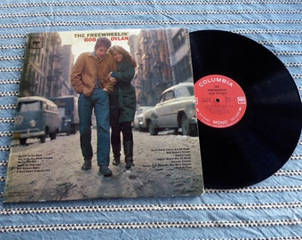 MONO The Freewheelin' Bob Dylan Original Vintage 1963 LP Vinyl Record Stereo 360 Sound  Clean