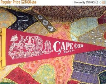 SALE Vintage Cape Cod Souvenir Travel Pennant