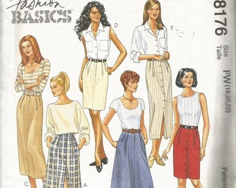 McCall's 8176 Plus Size Skirt Pattern SZ 18-22