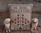 Be Mine Valentine...Primitive Cross Stitch Pattern By The Humble Stitcher