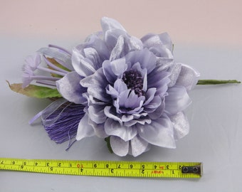 Millinery Flower/leaves/tassel bundle - Lilac