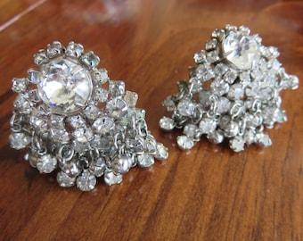 Crystal Fringe 50's Earrings