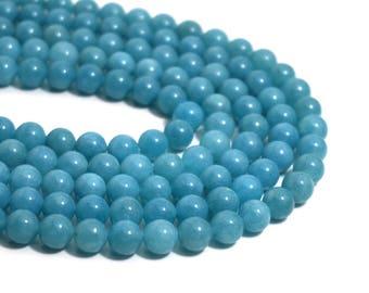 Blue Quartz beads, 8mm round gemstone, full & half strands available  (1255G)