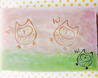 SoapRepublic Little owl Acrylic Soap Stamp / Cookie stamp