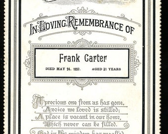 Three White Antique Memorial Cards WITH FindAGrave Links