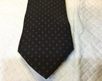 Vintage ROOSTER Tie Ruffler Collection Silk Tie Blue Red Orange