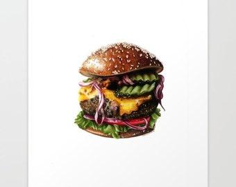 Cheeseburger Print