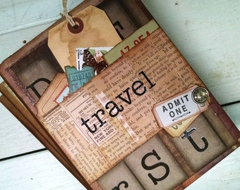 Travel Journal Notebook Smashbook Art Journal Travel Vacation Road Trip Honeymoon