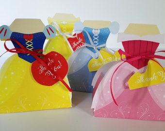 Printable Mini Princess Favor Candy Box's